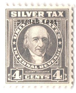1941 4c Silver Tax, gray, overprint '1941'