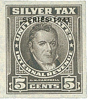 1941 5c Silver Tax, gray, overprint '1941'