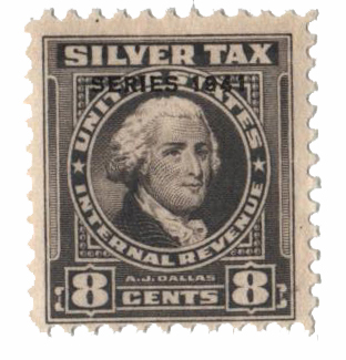 1941 8c Silver Tax, gray, overprint '1941'