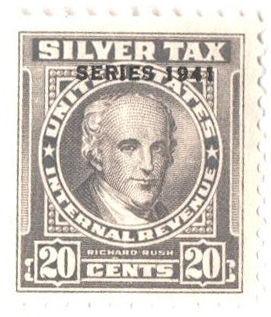 1941 20c Silver Tax, gray, overprint '1941'