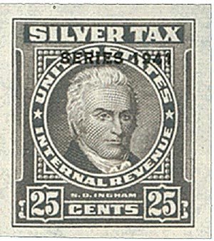 1941 25c Silver Tax, gray, overprint '1941'
