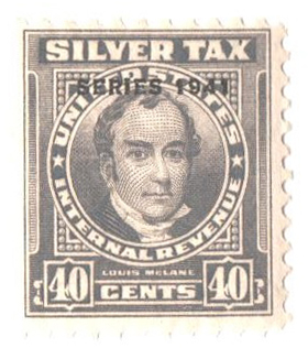 1941 40c Silver Tax, gray, overprint '1941'