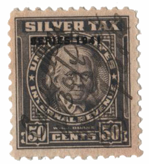 1941 60c Silver Tax, gray, overprint '1941'
