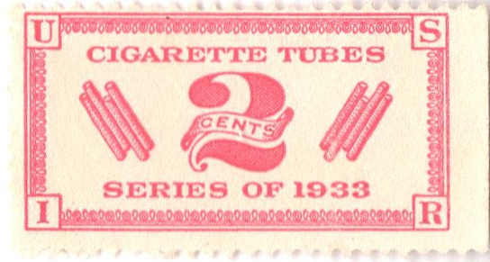 1933 2c rose, dl wmk, perf 11