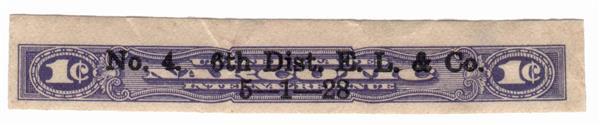 1919-64 1c violet, imperf
