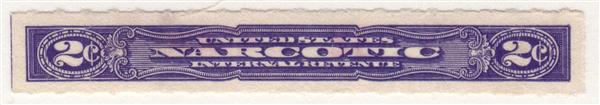 1919-64 2c violet Rouletted 7