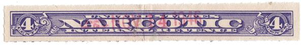 1919-64 4c violet Rouletted 7