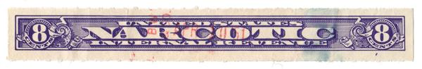 1919-64 8c violet, Rouletted 7