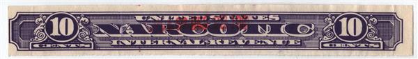 1919-64 10c violet, Narcotic Tax Stamp