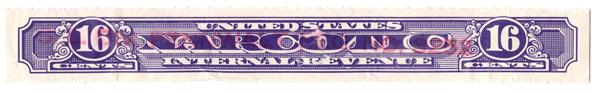1919-64 16c violet, Rouletted 7