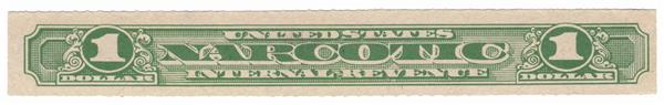 1919-64 $1 green, Narcotic Tax Stamp