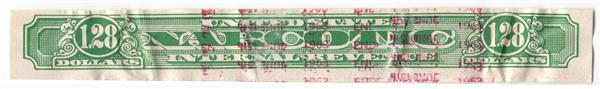 1919-64 $1.28 green, Rouletted 7