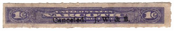 1963-70 1c violet, Rouletted 7
