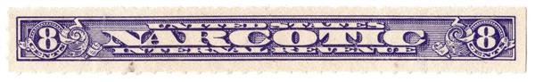 1963-70 8c violet, Rouletted 7