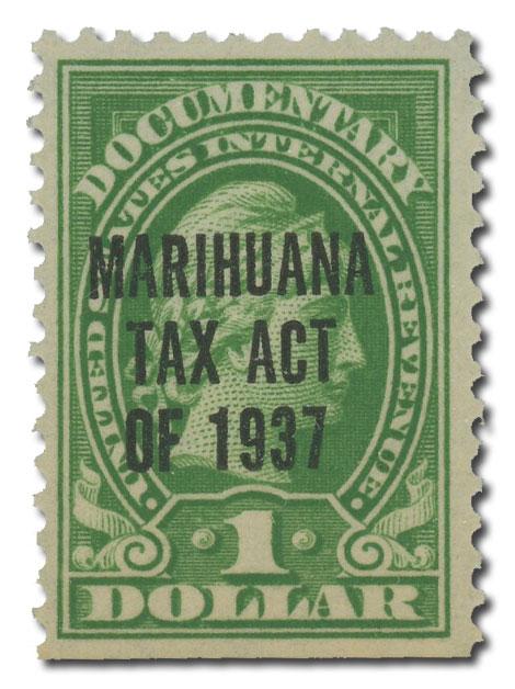 1937 $1 Marihuana tax, y. green