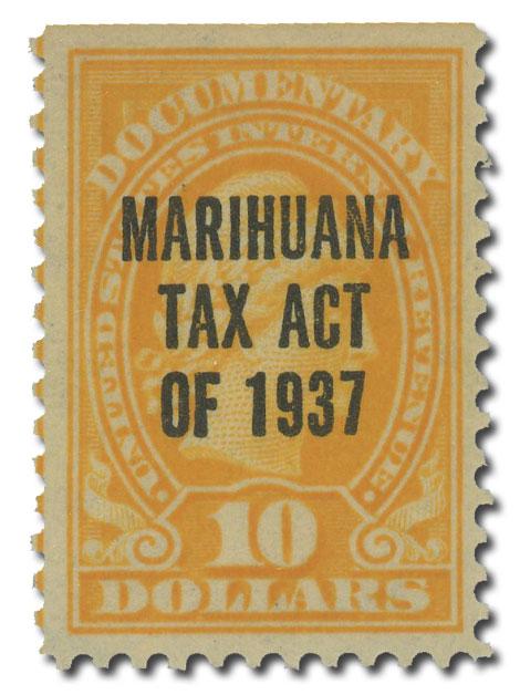 1937 $10 Marihuana tax, y. orange