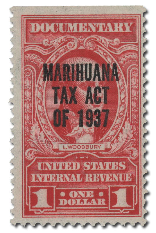 1962 $1 Carmine 2nd Issue Marihuana