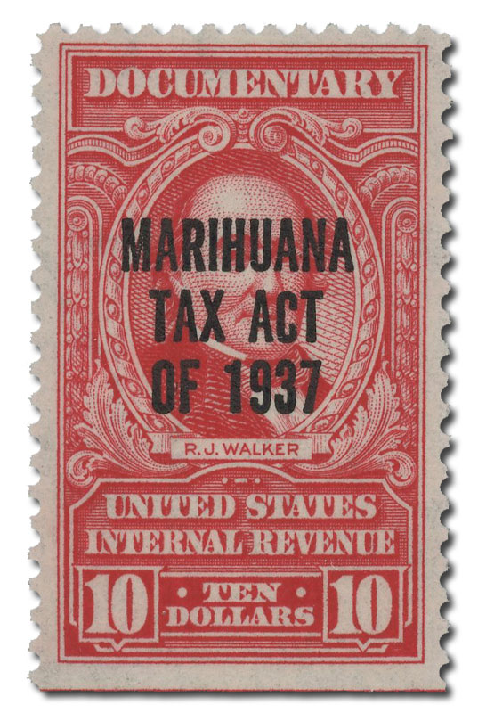 1962 $10 2nd Issue Marihuana tax stamp