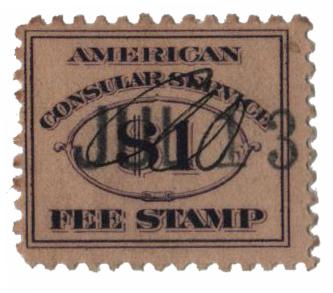 1906 $1 dk vio, fee stamp, perf 11