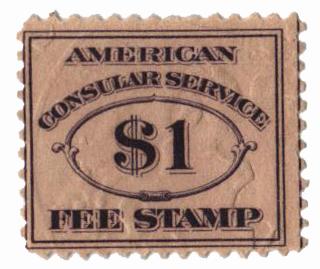 1906 $1 dk vio, fee stamp, perf 12