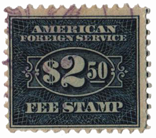 1925-52  $2.50 bl, fee stamp, perf 11