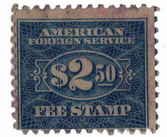 1925-52 $2.50 Consular Service Fee,ultra