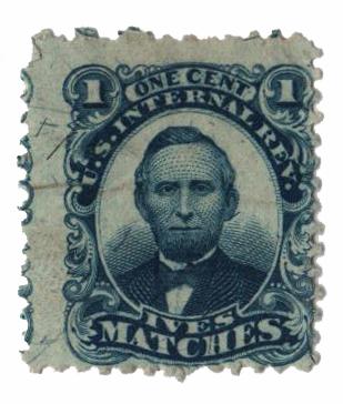 1864 1c blue
