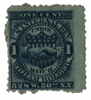 1864 1c blue, Wmk 191R