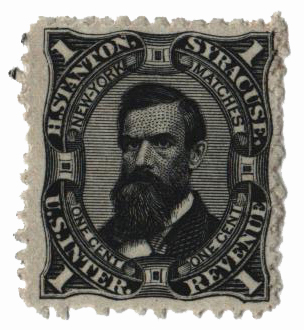 1864 1c Proprietary Match Stamp - H. Stanton, black, watermark 191R