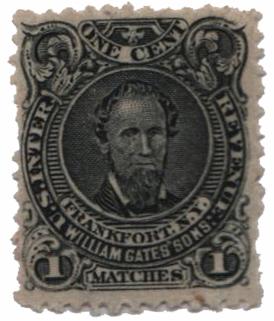 1864 1c black, Wmk 191R