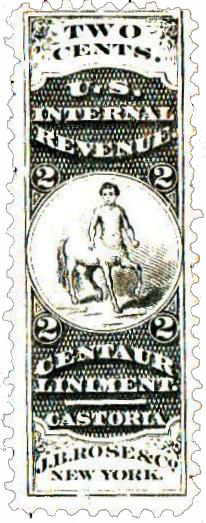 1862 2c Proprietary Medicine Stamp - black