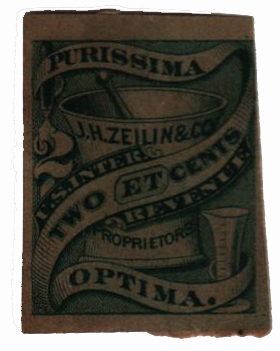 1862 2c Proprietary Medicine Stamp - green, watermark 191R