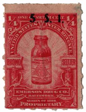 1898-1900 1/4c Proprietary Medicine Stamp - carmine