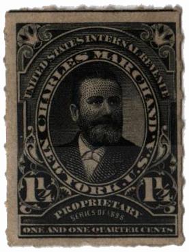 1898-1900 1 1/4c Proprietary Medicine Stamp - black