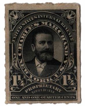 1898-1900 1 7/8c Proprietary Medicine Stamp - black