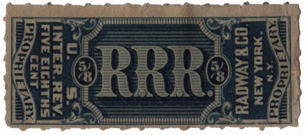 1898-1900 5/8c Proprietary Medicine Stamp - blue
