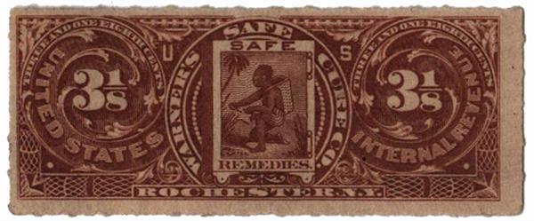 1898-1900 3 1/8c Proprietary Medicine Stamp - Warners Safe Cure Co.