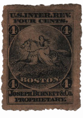 4c Proprietary Medicine Stamp - black, watermark 191R