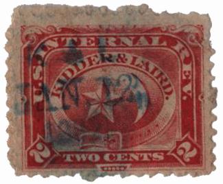 1864 2c vermilion, Wmk 191R