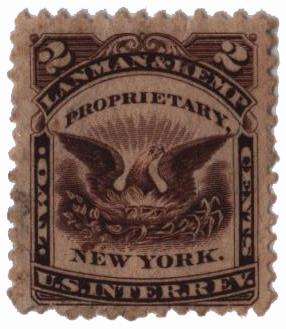 1864 2c brown, Wmk 191R