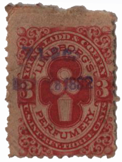 1864 3c vermillion, Wmk 191R