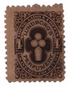 1864 4c brown, Wmk 191R