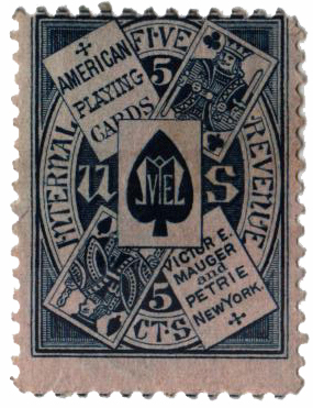 1864 5c blue, pink paper