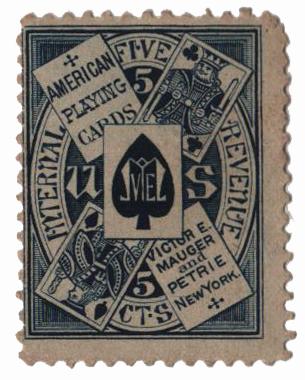 1864 5c blue