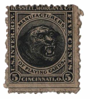 1864 5c black