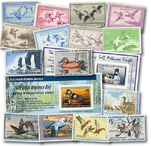 1934-2005 Duck Stamp Collection, 80 stamps