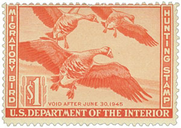 1944 $1.00 White-Fronted Geese Duck Stmp