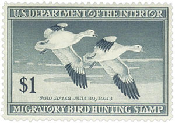 1947 $1.00 Snow Geese