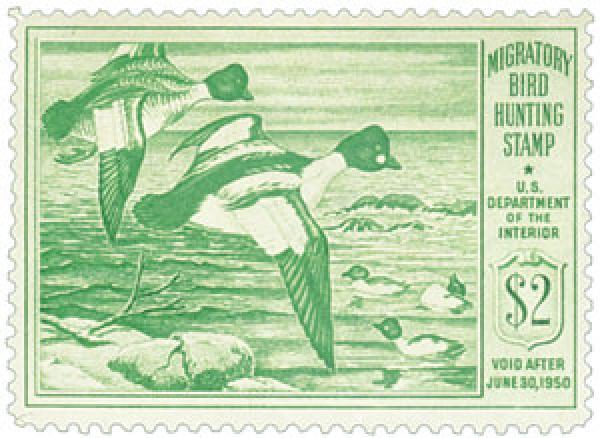 1949 $2.00 Goldeneye Ducks