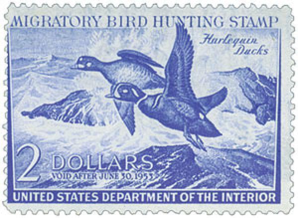 1952 $2.00 Harlequin Ducks